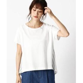 COMME CA ISM / コムサイズム ストライプ デザインTシャツ