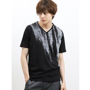 【semantic design:トップス】ライトフォース/LIGHTFORCE プリントVネック半袖Tシャツ