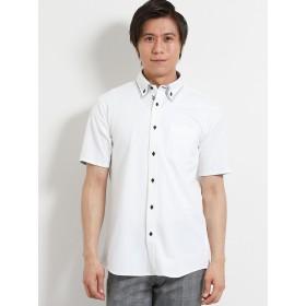 ポロシャツ - TAKA-Q MEN TAKA-Q/mens: Biz 2枚衿ボタンダウン半袖カットシャツ/ビズポロ/クールビズ