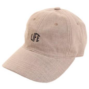 【Super Sports XEBIO & mall店:帽子】リネン刺繍キャップ LIFE 897PA9ST1707 BRN