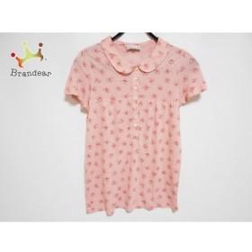 アニエスベー 半袖シャツブラウス サイズ3 L レディース 美品 ピンク×レッド×グレー 花柄   スペシャル特価 20190908