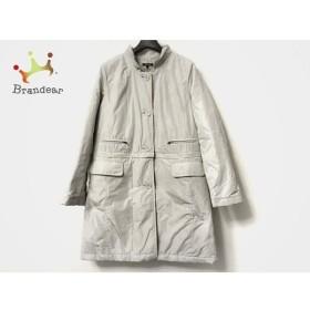 ドゥクラッセ DoCLASSE コート サイズ11 M レディース 美品 ライトグレー 中綿/冬物 新着 20190614