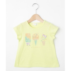 3can4on(Kids)(サンカンシオン(キッズ)) 【コットン100%】【90cm~120cm】アイスクリームリボンTシャツ