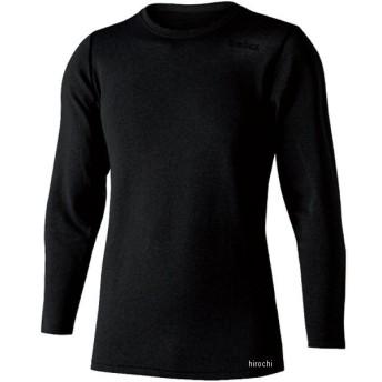 【メーカー在庫あり】 905772 おたふく手袋 デュアルブラッシュドヘビーウェイトクルーネックシャツ JW-180 黒 3Lサイズ JP店