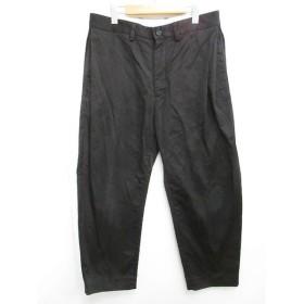 【中古】イール EEL 18-19SS ST Pants パンツ ワイド テーパード サイドタック バルーン E-18260 ブラック 黒 L 0319【中古