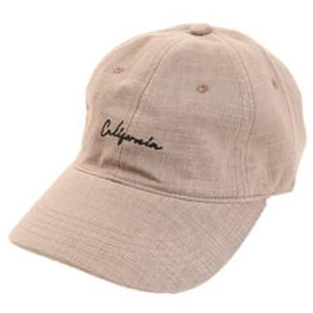 【Super Sports XEBIO & mall店:帽子】リネン刺繍キャップ Calif 897PA9ST1703 BRN