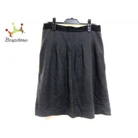 ニジュウサンク 23区 スカート サイズ46 XL レディース 美品 グレー×黒   スペシャル特価 20190926