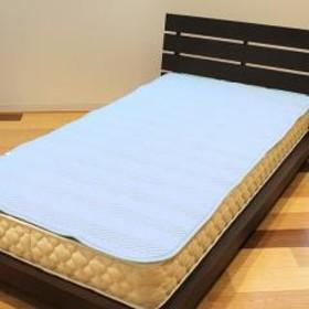 10%OFFクーポン対象商品 ベッドパッド 洗える 日本製 シングル 敷きパッド ブルー クーポンコード:KZUZN2T