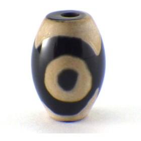 三眼天珠(小)(黒)(1個)チベット 天珠 バラ売り 天然石 1粒売り 1玉 パーツ 風水グッズ 風水 ゆうパケット送料無料