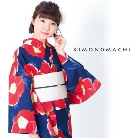 KIMONOMACHI 浴衣単品 水彩椿 レディース