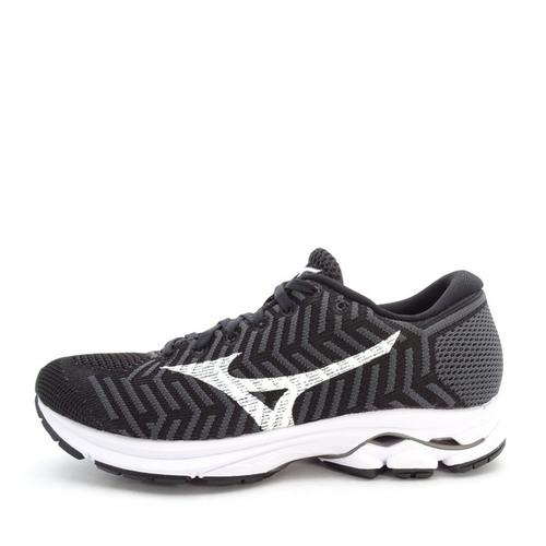 Mizuno Waveknit R 1 [J1GD182402] 女鞋 運動 慢跑 避震 耐磨 舒適 美津濃 黑白