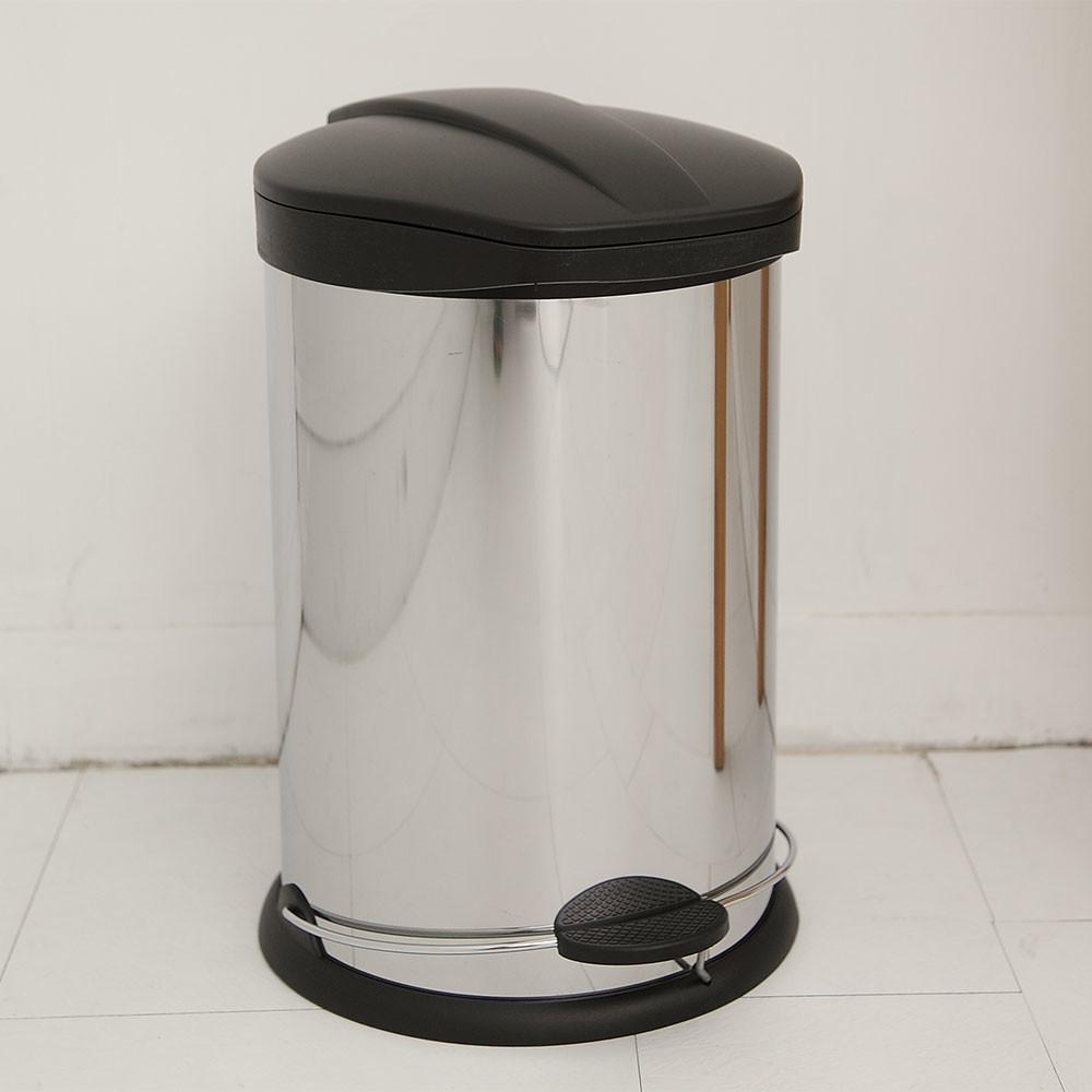 ikloo不鏽鋼腳踏垃圾桶-12l(台灣製造)