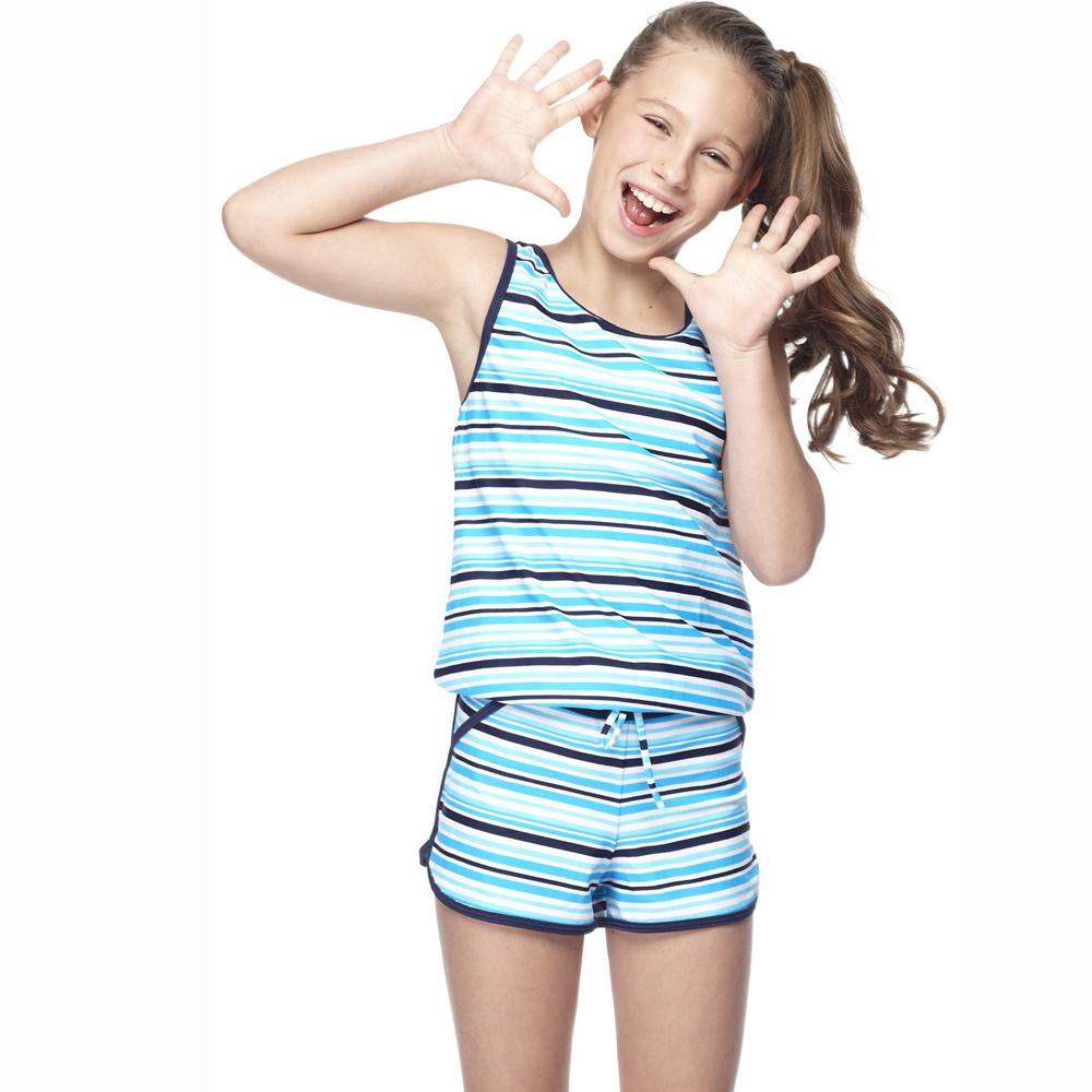 【SAIN SOU】少女兩件式泳裝附泳帽A82418