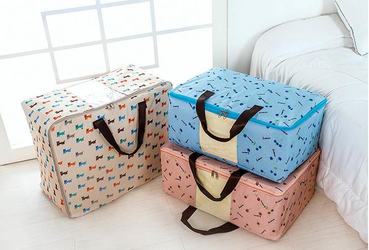 童趣繽紛600d日式防潑水雙拉鍊視窗收納袋