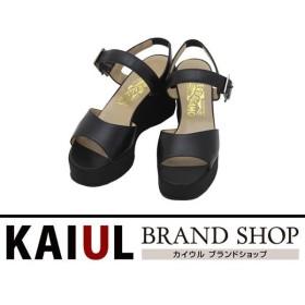 フェラガモ 靴 ウェッジソール サンダル レザー ブラック 黒色 新品同様品/SAランク/中古 フェラガモシューズ