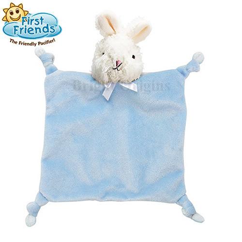 美國my first friend 奶嘴安撫娃娃(含2個奶嘴)-藍色兔子