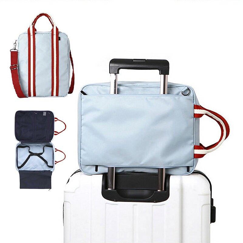 【台灣現貨】可套行李箱斜背包 大容量便攜收納包 商務行李包 斜跨衣物包 健身包 2色【CI125】99750走走去旅行