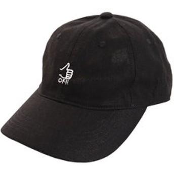 【Super Sports XEBIO & mall店:帽子】リネン刺繍キャップ OK 897PA9ST1728 BLK