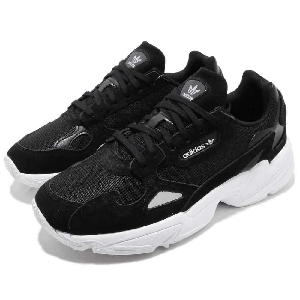 ADIDAS 休閒鞋 Falcon 老爹鞋 運動 女鞋 愛迪達 低筒 潮流 明星款 穿搭 復古 黑 白 [B28129]