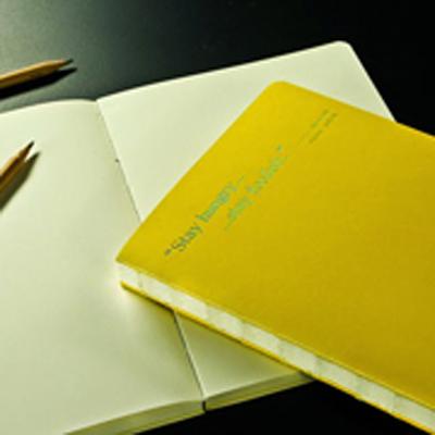 Gee Note唉呦裸線裝筆記本 - 黃色