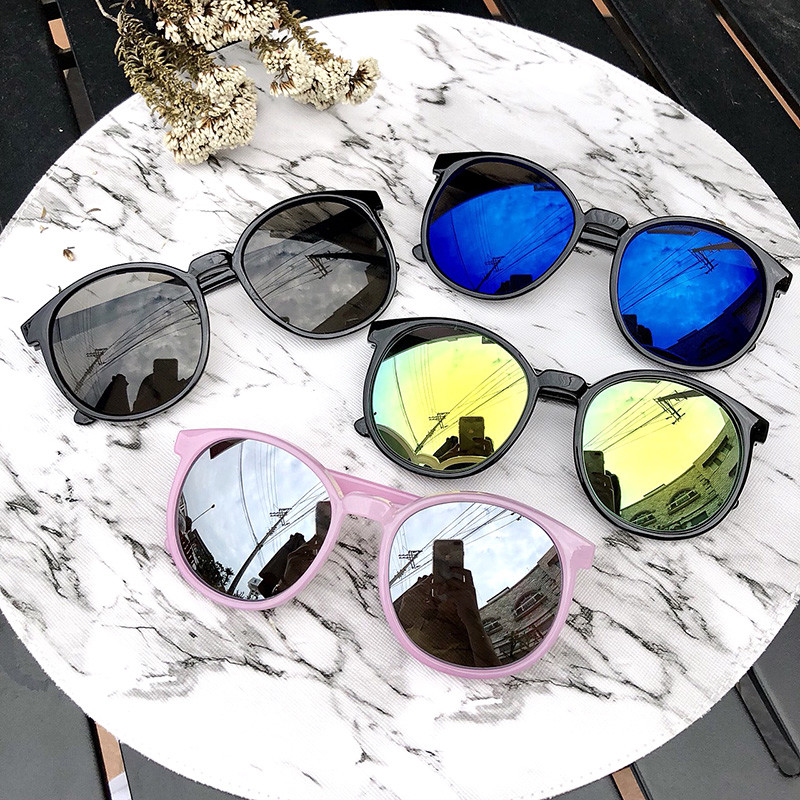 韓版圓框太陽眼鏡 水銀鏡面 反光墨鏡 抗uv400 輕量設計 台灣製造 檢驗合格