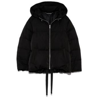 ミラオーウェン 裾リボンショートダウンジャケット レディース BLK 1 【Mila Owen】