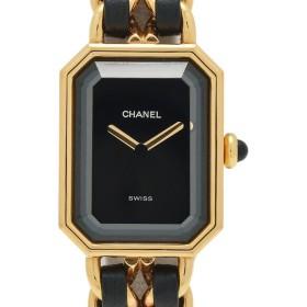 7cda3fab96 シャネル CHANEL プルミエール L 腕時計 クォーツ GP レザー レディース 中古