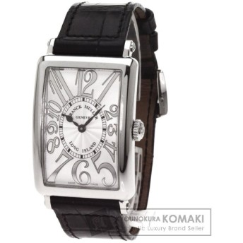 FRANCK MULLER【フランクミュラー】952QZREL ロングアイランド 腕時計 ステンレススチール レザー レディース 【中古】