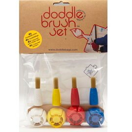 【淘氣寶寶】英國 DoddleBags 彩虹荳荳袋(塗鴨組) 不沾手魔術筆【搭配筆刷變畫筆、室內戶外隨處畫】