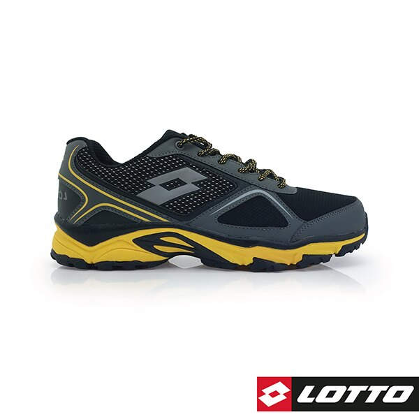 【滿額再折$100】義大利第一品牌-LOTTO樂得 男款CROSS RUN 防潑水霸氣越野跑鞋 [0150] 黑【巷子屋】