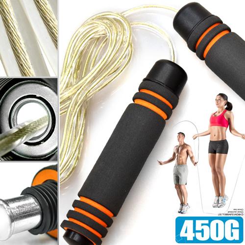 高轉速450G負重跳繩(鋼絲繩芯)可調式長度可調整