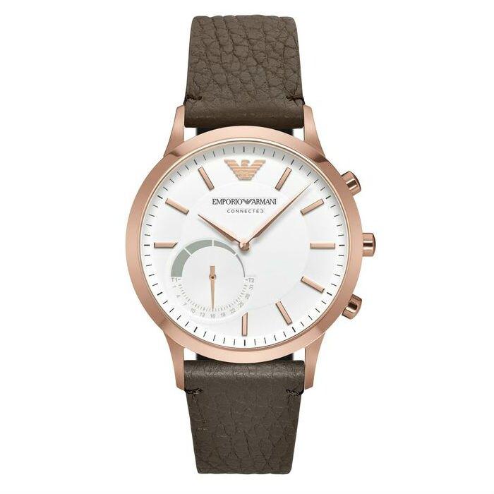 EMPORIO ARMANI 亞曼尼 ART3002 EA CONNECTED藍芽智慧時尚腕錶/白面43mm