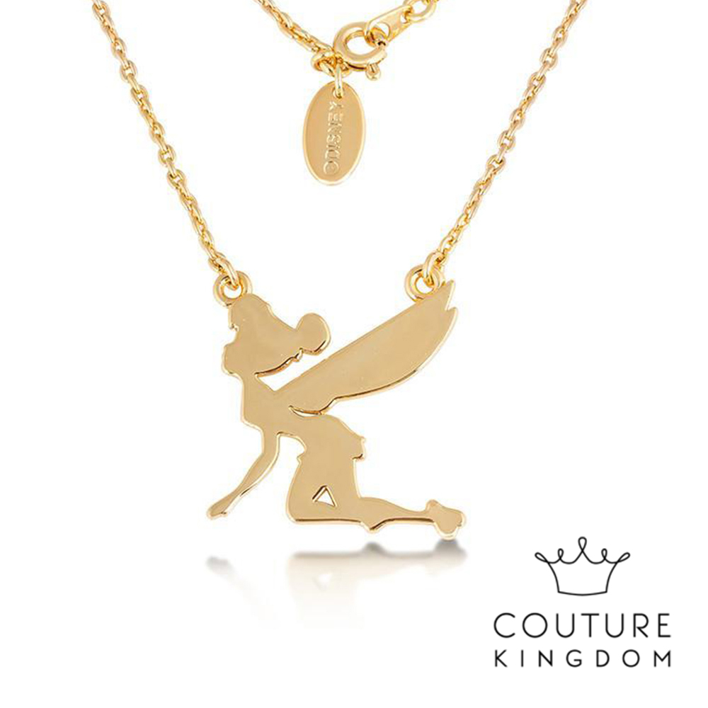 Disney Jewellery Tinker Bell Necklace by Couture Kingdom 迪士尼奇妙仙子叮叮素面剪影鍍14K金項鍊