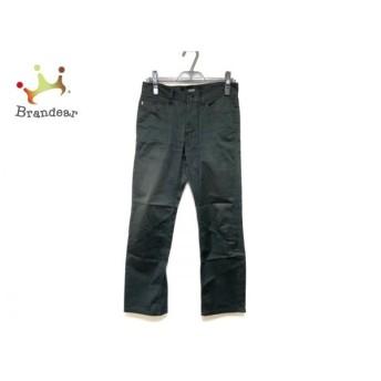 バーバリーブラックレーベル Burberry Black Label パンツ サイズ70 メンズ 黒 ストライプ スペシャル特価 20190907
