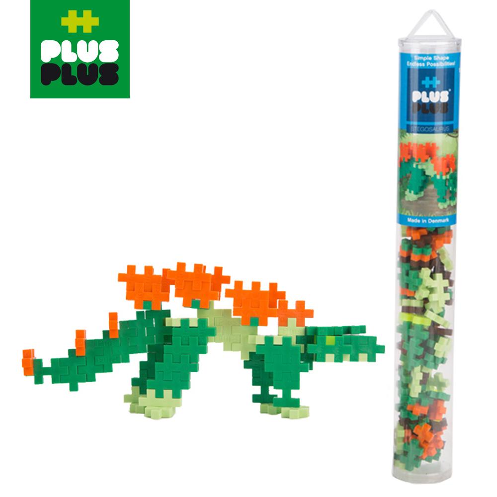 【 ++Plus-Plus 加加積木 】Mini 小顆粒-彩虹系列 100PCS (劍龍) (透明管裝)