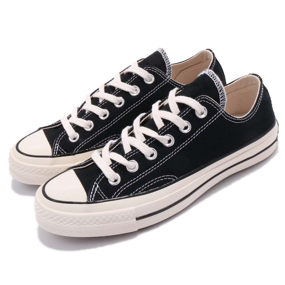 CONVERSE 休閒鞋 All Star 70 女鞋 男鞋 復古 低筒 情侶鞋 奶油頭 星星 黑 米白 [162058C]