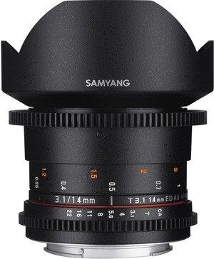 Samyang鏡頭專賣店: 14mm/T3.1 ED ASPH超廣角 for Canon EOS(微電影 鏡頭 5D 5D2 5D3 6D 7D 1D4)(保固三個月)