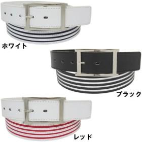 ストライプ&ステッチデザイン ベルト カット調節フリーサイズ ゴルフベルト 【tw-gf-015】