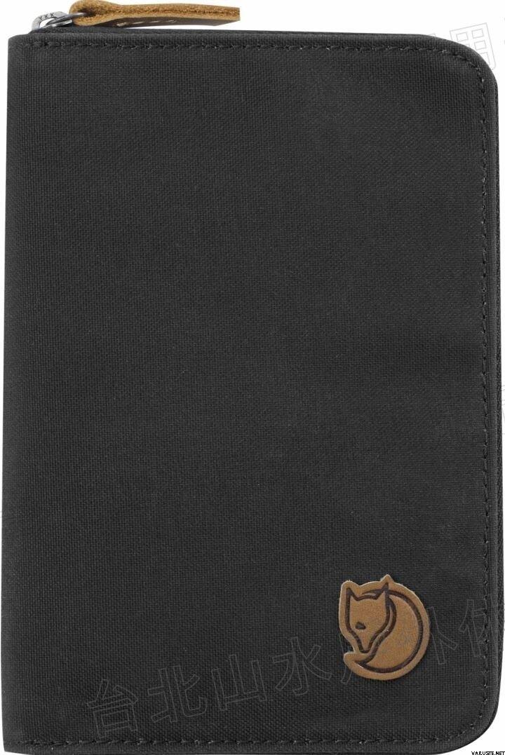 Fjallraven 瑞典北極狐 Passport Wallet 旅遊護照包/復古拉鍊皮夾/錢包 24220 030 深灰