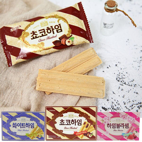 CROWN 韓國 巧克力榛果醬威化條(142g) 【庫奇小舖】