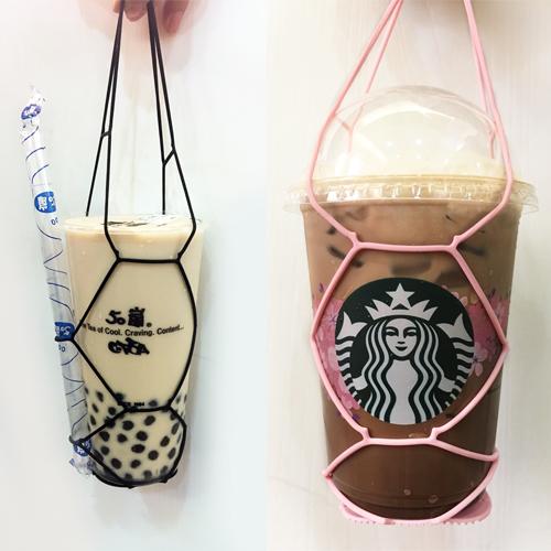 Kalo卡樂創意 環保矽膠飲料提袋2組 杯套 手搖杯 飲料袋 環保提袋