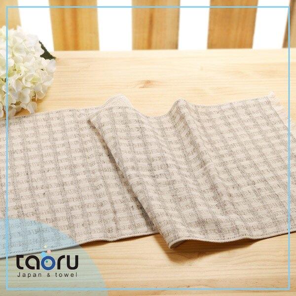 taoru【日本今治毛巾/ 棉麻混紡 / 家用長毛巾】彩虹格格_灰色