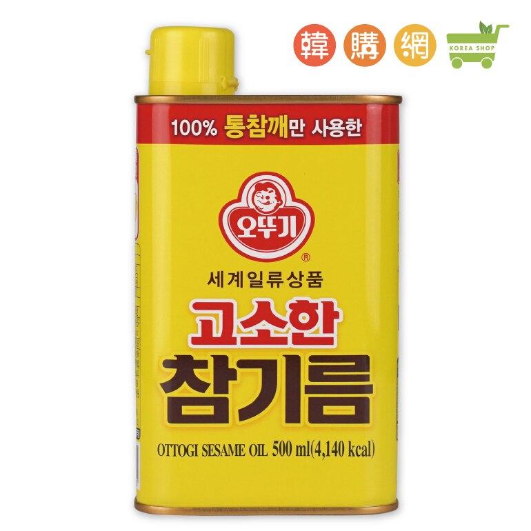 韓國OTTOGI不倒翁芝麻油(香油)500ml【韓購網】[AA00084]