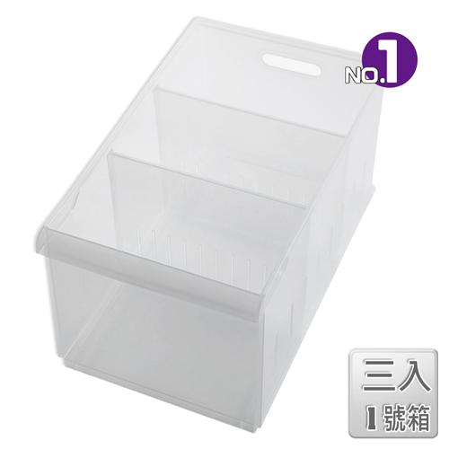 (任選)【收納屋】「無印美學」積木式  Fine01隔板整理盒(附輪) (三入/組)