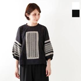 soi-e ソア 刺繍&レース プルオーバーコットンブラウス 810775