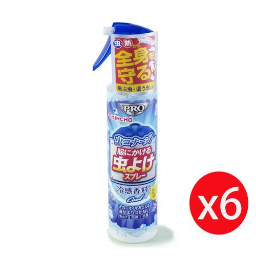 日本 KINCHO 金鳥 衣類專用涼感消臭驅蚊噴霧 200ml x6入