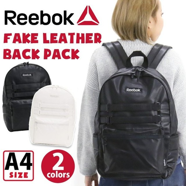 90c022d0af リュックサック Reebok リーボック フェイクレザー バックパック リュック デイパック メンズ レディース 男女兼用 ブランド ブラック