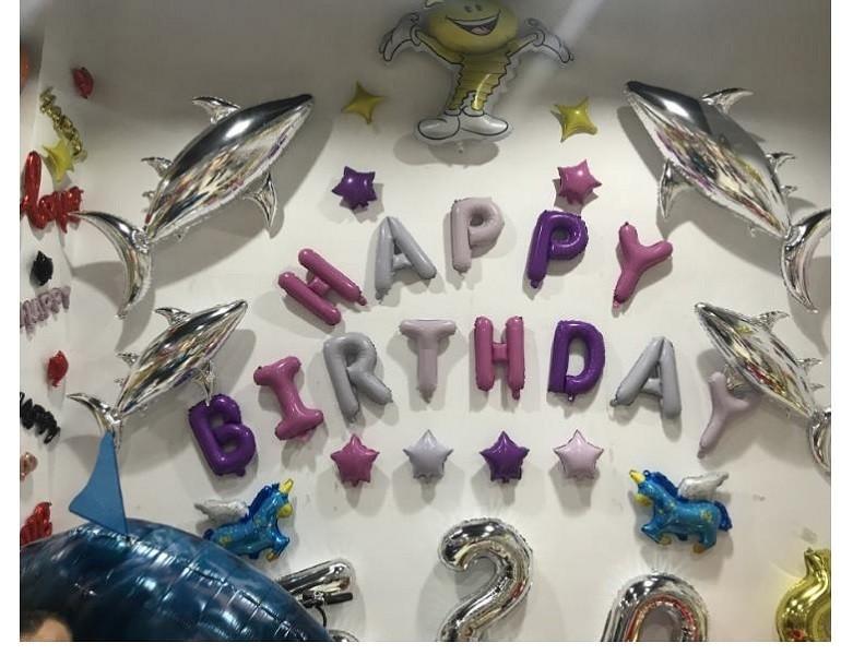 16吋裝飾生日快樂氣球s05516吋生日快樂字母 鋁箔氣球 操作簡單易上手 派對 節慶 多款可選