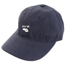 【Super Sports XEBIO & mall店:帽子】リネン刺繍キャップ GREEN 897PA9ST1743 NVY