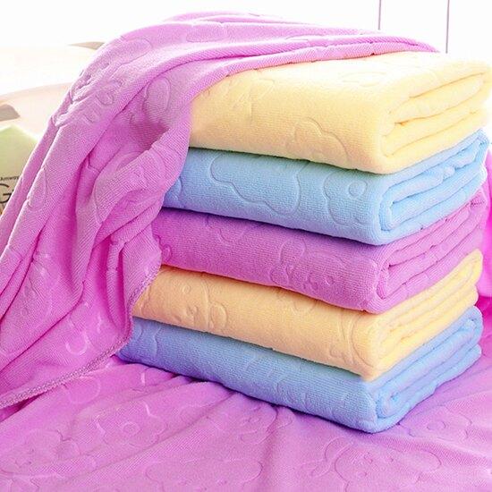 壓花小熊吸水浴巾 70x140 毛巾 批發 贈品 浴室 柔軟 吸水 擦車 衛生 大掃除 ♚MY COLOR♚【P610】